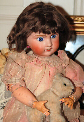 """Stunning 22"""" French Jumeau Type Mistery Bisque Head Doll unmarked  around 1910"""