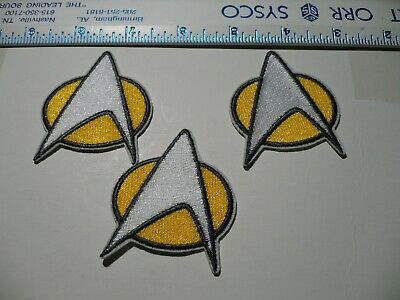 Star Trek Crew Iron On Patch Insignia Cosplay Logo Costume Kirk lot of 3    a2