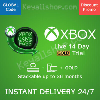 Xbox Live 14 Day Gold Trial + GAME PASS Ultimate - 2 Weeks Xbox One PC GLOBAL