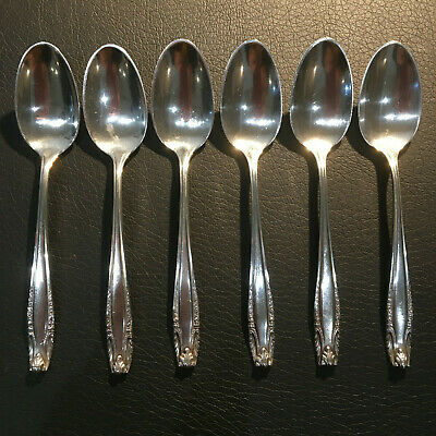 "1 of 6 Sterling Silver Wallace ""Stradivari"" Coffee Spoons, No Mongram"