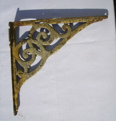 antique cast iron sink wall bracket ornate chippy paint corbel large 15 x 15