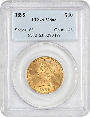 1895 PCGS MS63 - Liberty Eagle - Gold Coin - gold Type coin
