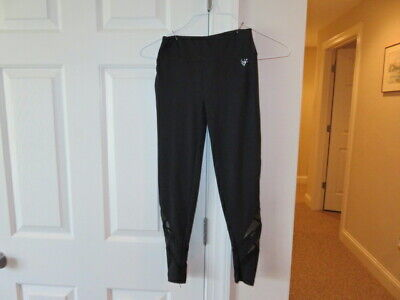 EUC!!  Justice Activewear Dri-Fit Black Leggings - Size Girls 10