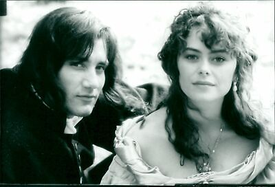 Vintage photograph of Clive Owen and Polly Walker