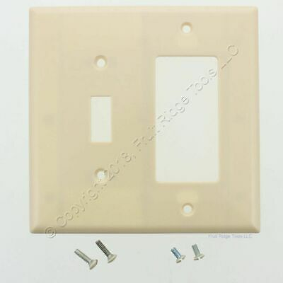 Eagle Ivory Mid-Size 2G Combination Decorator Switch Cover GFI Wallplate 2053V
