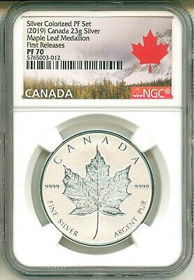 2019 Canada 23g .9999 Silver Maple Leaf First Release From Silver Proof Set PF70