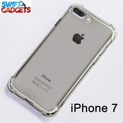 For iPhone 7 Shock Proof Crystal Clear Soft Silicone Gel Bumper Cover Case Slim