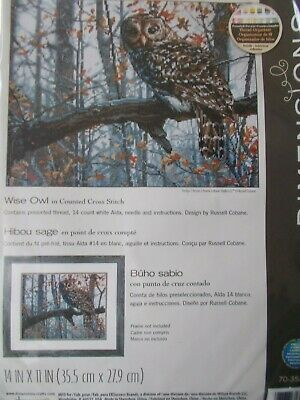 """Cross stitch Kit """" Wise Owl """" New by Dimensions"""