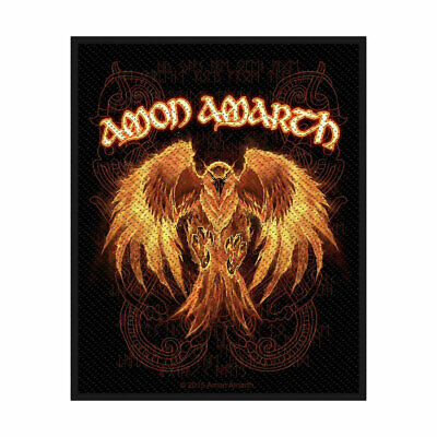 XLG Amon Amarth Battlefield Death Metal Music Band Woven Applique Patch