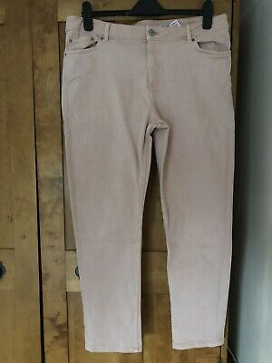 Marks And Spencer Pale Pink Relaxed Fit Jeans Size 16