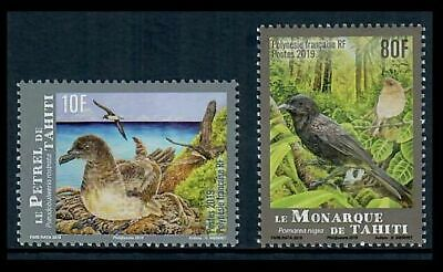 French Polynesia #1221-1222 Endangered Birds on Colorful Set of Two Stamps MNH