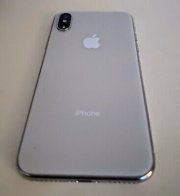 Apple iPhone X - 64GB - Silver (Unlocked) A1865 (CDMA + GSM).