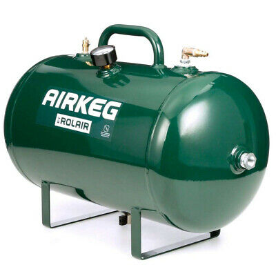Rolair AIRKEG2 Heavy Duty 10 Gallon Portable Steel Auxiliary Air Storage Tank