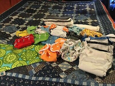 Cloth Diapers, Inserts, Wet Bag - Pre-Owned Great Brands, Various Sizes