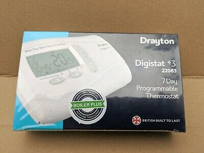 Drayton Digistat +3 7 Day Programmable Thermostat New Sealed
