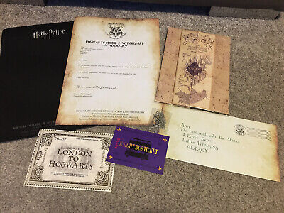 Harry Potter Hogwarts Acceptance Letter Pack - Necklace, Tickets & Marauders Map