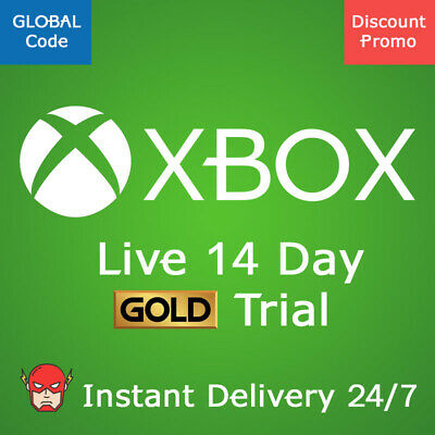 Xbox Live GOLD 14 Day Trial Membership Code XBOX ONE and PC Win 10