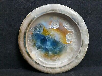 W. Bill Campbell Pottery Ceramic Crystalline Flambeaux Plate 8-1/2""