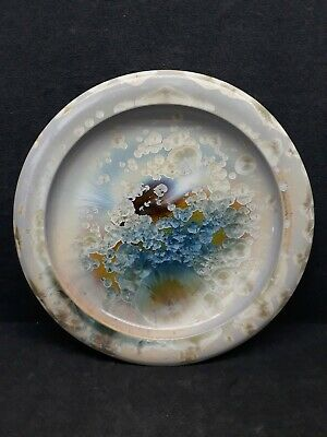 W. Bill Campbell Pottery Ceramic Crystalline Flambeaux Plate 11-1/2""