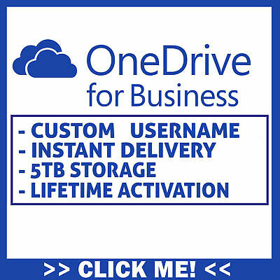 OneDrive for Business 5TB [Custom USERNAME] [Lifetime Account] INSTANT DELIVERY