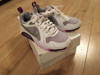 Gorgeous Older Girls - Ladies  Nike Air Max White & Purple Trainers - Size 3