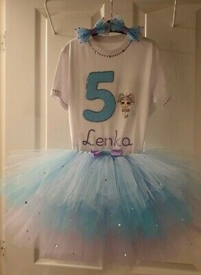 Personalised Birthday Outfit 3 pcs LOL surprise dolls Unicorn outfit