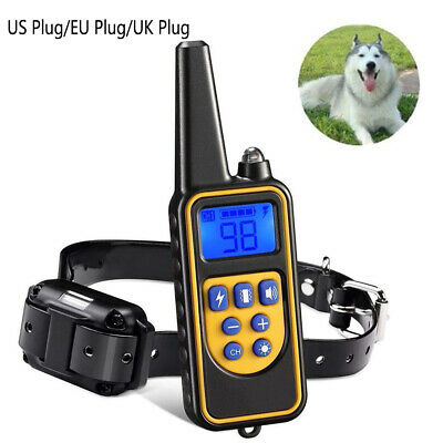880Yards LCD Dog Training Collar Waterproof Rechargeable Remote Dog Shock Collar