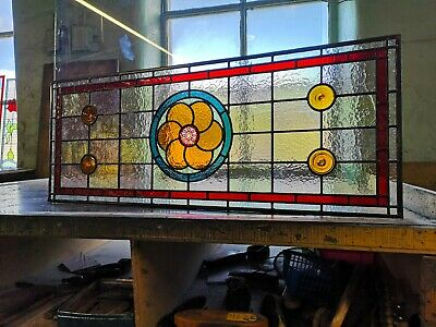 Victorian design Traditional Stained Glass fanlight window, made to measure