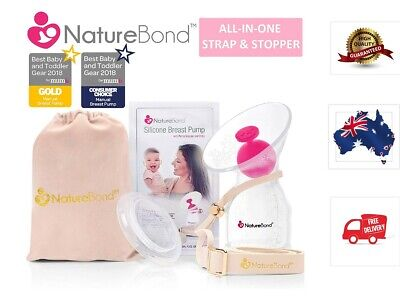 NatureBond Silicone Breastfeeding Manual Breast Pump Milk Saver Suction BPA Free
