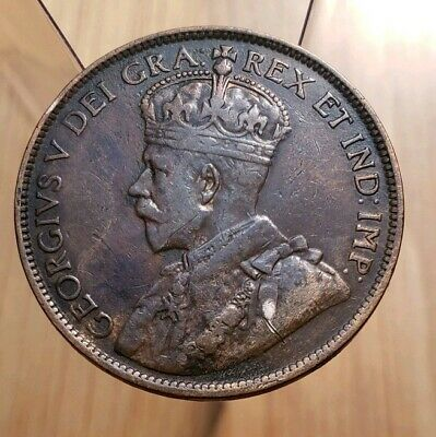 Canada 1913 King George V Large Cent--High Grade