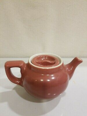 """Vintage Hall China Miniature Mauve 1-Cup Teapot 3"""" Tall Made In USA . EXCELLENT"""