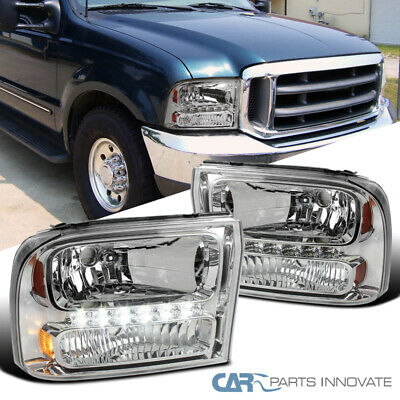 For Ford 99-04 F250/F350 Superduty 00-04 Excursion Clear 1PC Headlights+SMD LED