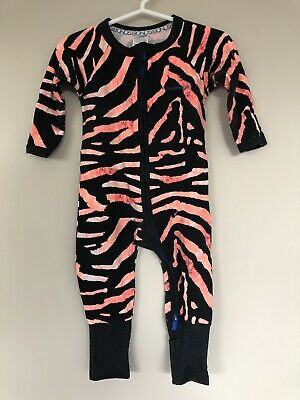 Bonds Orange Sumatran Tiger Zippy Wondersuit Size 00 3-6 Months