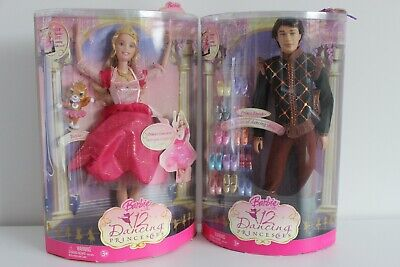 Barbie 12 Dancing Princesses Prince Derek & Princess Genevieve dolls BNIB