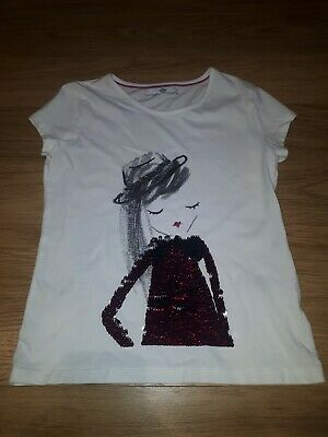 Girls MARKS AND SPENCER T-Shirt - 8-9 Years - White