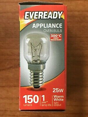 E14 Eveready 300°C Cooker Oven Appliance Lamp Bulb 15W 240V SES Base