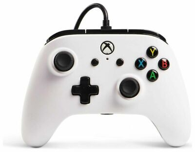 Powera Enhanced Wired Controller Microsoft Xbox One 2.4M Detachable Cable White