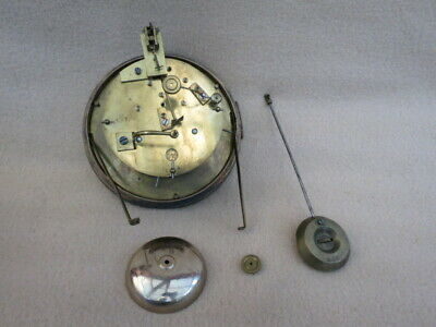 Antique French S Marti Clock Movement, Pendulum, Etc
