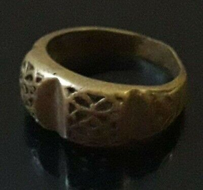 Ancient Bronze Artifact Ornament Antique Rare Viking Ring Unique Extremely Old
