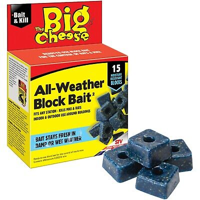 Rat & Mouse Poison Block Bait All Stations Rodent Control Mice Pest Killer NEW