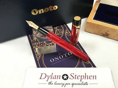 Onoto Magna classic burgundy pearl limited edition fountain pen NEW