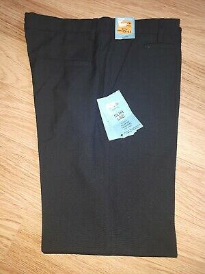 Boys MARKS AND SPENCER School Trousers - 11-12 Years Plus - Black BNWT