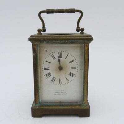 Antique Brass Carriage Clock, Examined By Hawley & Co, Regent St. Not Running