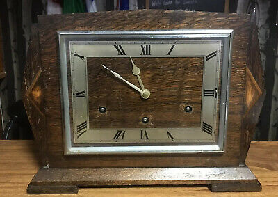 Art Deco Style garrard mantle clock. No Key. Spares Or repair