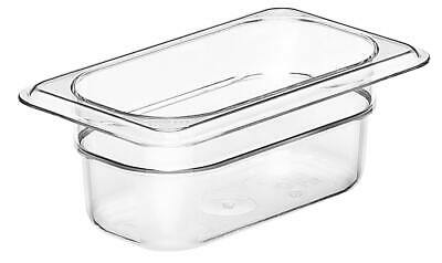 Camwear Food Pan, 1/9 size, Polycarbonate Clear Plastic, NSF, Cambro model 92CW