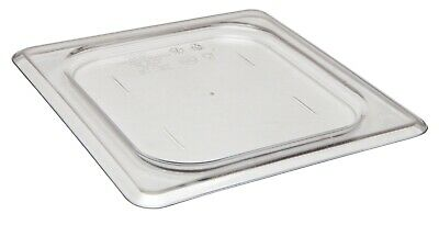 Camwear Food Pan Cover, 1/6 size, Polycarbonate Clear Plastic NSF, Cambro 60CWC