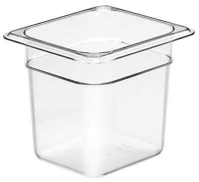 Camwear Food Pan, 1/6 size, Polycarbonate Clear Plastic, NSF, Cambro model 66CW