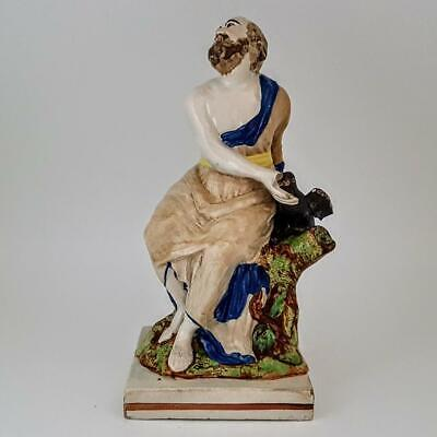 Antique 18th / 19th Century Staffordshire Pottery Pearlware Elijah Figure c1800