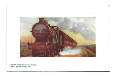 GNR, Great Northern Railway Postcard. King's Cross To Leeds Express. Tuck,s.