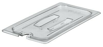 Camwear Food Pan Cover 1/3 size, Polycarbonate Clear Plastic NSF, Cambro 30CWCHN